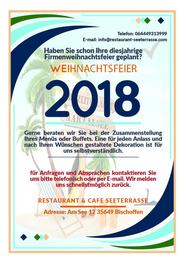 Firmenweinachtsfeier 2018